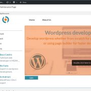 Interactive wordpress management hover