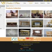 Luxury furniture website - Product page