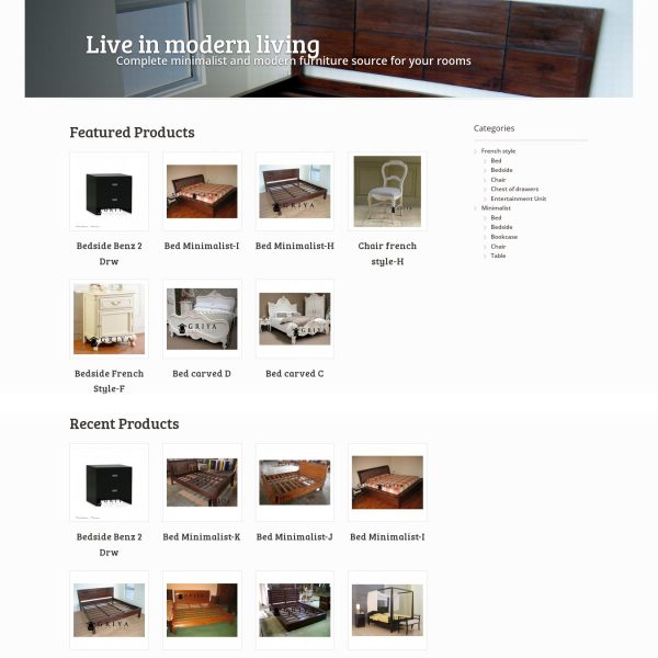 Woocommerce theme for furniture company