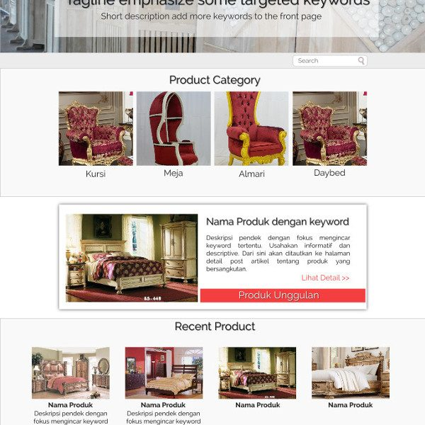 WP-Theme for product display