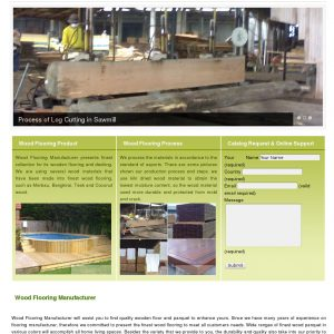 Wood flooring manufacturer